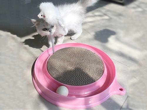 塑料圆盘猫抓板