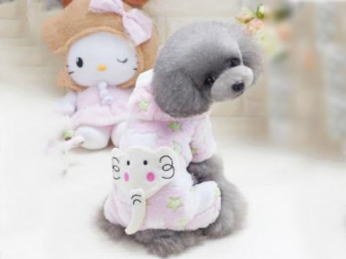 小象四腿绒衣(粉色)